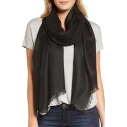 Cashmere Blend Wrap - Black - Nordstrom Scarves found on Bargain Bro from lyst.com for USD $75.24