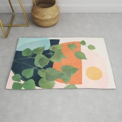 Modern Throw Rug | Nature Geometry Ix by City Art - 2' x 3' - Society6 found on Bargain Bro India from Society6 for $34.30