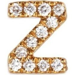 Diamond 18k Yellow Gold Letter Charm – Z - Metallic - Loquet London Earrings found on Bargain Bro from lyst.com for USD $304.00