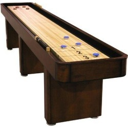 The Level Best 12' Shuffleboard TableManufactured Wood/Solid Wood in Brown, Size 30.0 H x 24.25 W x 144.0 D in   Wayfair F8206 found on Bargain Bro from Wayfair for USD $1,671.24
