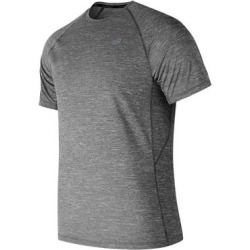 New Balance Men's Tenacity Short Sleeve (Size M) Charcoal, Polyester found on Bargain Bro Philippines from ShoeMall.com for $34.95