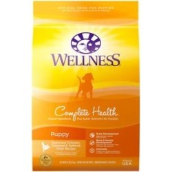 Wellness Complete Health Puppy Deboned Chicken, Oatmeal & Salmon Meal Recipe Dry Dog Food, 15-lb bag
