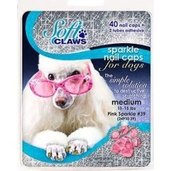 Soft Claws Nail Caps for Dogs, 40 count, X-Large, Pink Sparkle found on Bargain Bro India from Chewy.com for $15.15