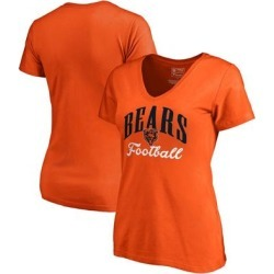Chicago Bears NFL Pro Line by Fanatics Branded Women's Victory Script V-Neck T-Shirt -Orange found on Bargain Bro from Fanatics for USD $18.99