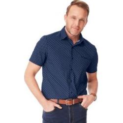 Men's John Blair Pin-Dot Sport Shirt, Navy Blue 2XL found on Bargain Bro from Blair.com for USD $22.79