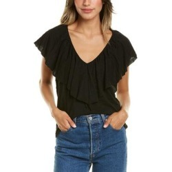 Goldie Big Ruffle Shell T-Shirt (12), Women's, Black(cotton) found on MODAPINS from Overstock for USD $50.59
