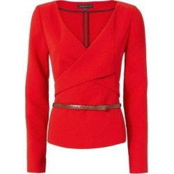 Barbara Bui Red Crepe Top Size 36 found on MODAPINS from Overstock for USD $149.00
