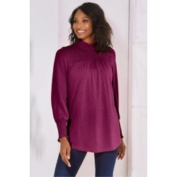 Women Jayden Top by Soft Surroundings, in Purple Potion size 1X (18-20)
