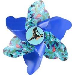 Tech Zebra Bike Accessories Multicolor - Blue Dinosaur Handlebar Pinwheel found on Bargain Bro from zulily.com for USD $9.87