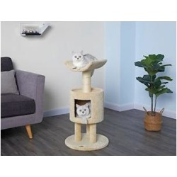 Go Pet Club 36-in Premium Carpeted Sisal Post Cat Tree, Beige found on Bargain Bro India from Chewy.com for $89.00