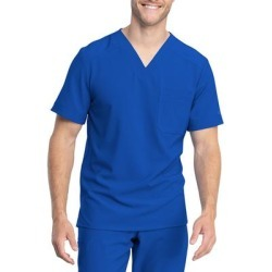 Dickies Men's Retro V-Neck Scrub Top - Royal Blue Size XL (L10588) found on Bargain Bro India from Dickies.com for $29.99