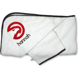 Atlanta Hawks Infant Personalized Hooded Towel & Mitt Set - White found on Bargain Bro Philippines from Fanatics for $44.99