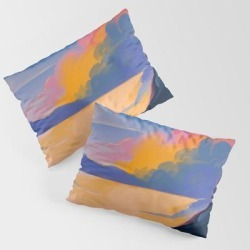 End Of Day King Size Pillow Sham by Gdbee - STANDARD SET OF 2 - Cotton