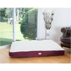 Armarkat Dog Pillow Bed w/Removable Cover, Burgundy/Ivory, Medium