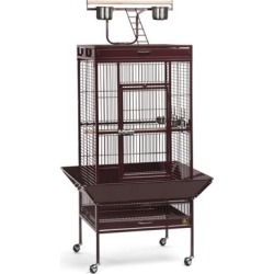 Prevue Pet Products Signature Select Series Wrought Iron Bird Cage in Metallic Garnet Red, Medium