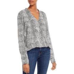Splendid Womens Blouse Python Print Surplice - Off White (M), Women's(rayon) found on Bargain Bro from Overstock for USD $25.76