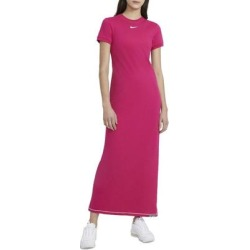 Sportswear Icon Clash Maxi Dress - Pink - Nike Dresses found on Bargain Bro from lyst.com for USD $49.40