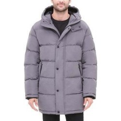 DKNY Mens Parka Coat Quilted Hooded - Navy - XXL (Grey - L), Men's, Gray(polyester) found on Bargain Bro Philippines from Overstock for $132.93
