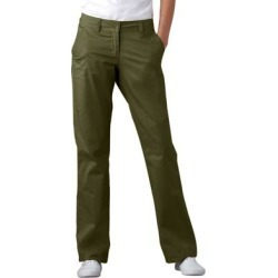 Plus Size Women's Classic Chino Pants by ellos in Dark Basil (Size 18) found on Bargain Bro Philippines from Ellos for $35.90