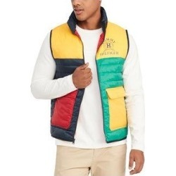 Tommy Hilfiger Mens Dahl Vest Colorblocked Logo - Multi (XL), Men's, Multicolor(nylon) found on Bargain Bro Philippines from Overstock for $55.67