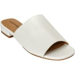 Extra Wide Width Women's Sola Mules by Comfortview in White (Size 7 1/2 WW) found on Bargain Bro Philippines from Ellos for $50.99