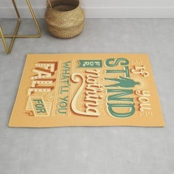 Modern Throw Rug | Make A Stand by Risa Rodil - 2' x 3' - Society6