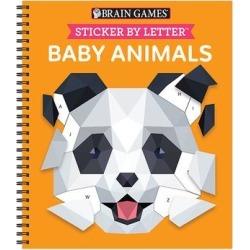Publications International Art Activity Books - Brain Games: Sticker By Letter Baby Animals Spiral-Bound Book
