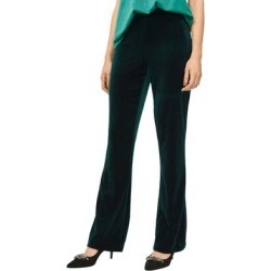 Plus Size Women's Velvet Wide Leg Pants by ellos in Deep Emerald (Size 30) found on Bargain Bro Philippines from Ellos for $62.90
