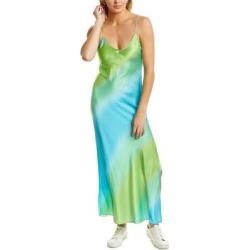 Dannijo Silk Maxi Slip Dress (12), Women's, Green found on MODAPINS from Overstock for USD $259.59