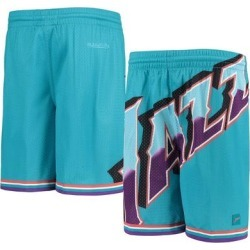 Utah Jazz Youth Hardwood Classics Throwback Big Face Mesh Shorts - Teal found on Bargain Bro Philippines from Fanatics for $49.99