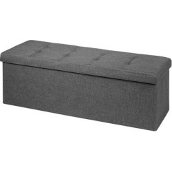 Costway Fabric Folding Storage Ottoman Storage Chest W/Divider Bed End found on Bargain Bro from Overstock for USD $63.07