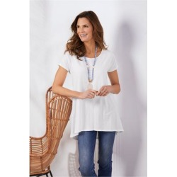 Women Calissa T-Shirt by Soft Surroundings, in White size 1X (18-20)