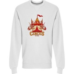 Amazing Vintage Circus Tent Sweatshirt Men's -Image by Shutterstock (M), White(cotton) found on Bargain Bro Philippines from Overstock for $24.99