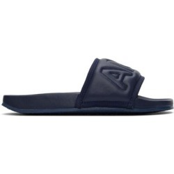 Navy Leather Quilted Slides - Blue - Ambush Sandals found on Bargain Bro Philippines from lyst.com for $480.00