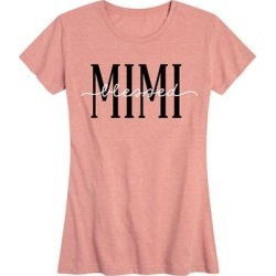 Instant Message Women's Women's Tee Shirts DESERT - Desert Pink 'Blessed Mimi' Relaxed-Fit Tee - Women & Plus found on Bargain Bro from zulily.com for USD $9.87