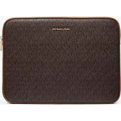 Michael Kors Jet Set Logo 15 Inch Laptop Case Brown One Size found on MODAPINS from Michael Kors for USD $96.00
