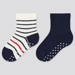 UNIQLO Baby Regular Socks (2 Pairs), Navy, 6-18M found on Bargain Bro from Uniqlo for USD $4.48