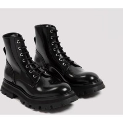 Leather Boots 39 - Black - Alexander McQueen Boots found on Bargain Bro Philippines from lyst.com for $376.00