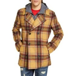 American Rag Mens Peacoat Toffee Caramel Brown Size M Plaid Hooded Bib (M), Men's(wool) found on Bargain Bro India from Overstock for $55.98