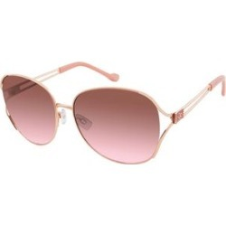 Jessica Simpson Collection Women's Sunglasses Gold - Gold & Rose Vented-Temple Round Sunglasses found on Bargain Bro from zulily.com for USD $11.39