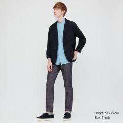 UNIQLO Men's Stretch Selvedge Slim-Fit Jeans, Navy, 31 in. found on Bargain Bro India from Uniqlo for $49.90