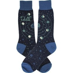 Foot Traffic Men's Socks Blue - Blue 'Just a Phase' Celestial Moon Socks - Men found on Bargain Bro from zulily.com for USD $6.83