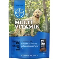 DVM Daily Soft Chews Multi Vitamin for Dogs, 120-count bottle found on Bargain Bro India from Chewy.com for $24.98
