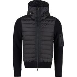 Cardigan With Padded Front Panel - Blue - Moncler Jackets found on Bargain Bro from lyst.com for USD $733.40