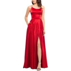 Betsy & Adam Womens Charlotte Strappy-Back Gown 8 Red (8), Women's(satin) found on Bargain Bro from Overstock for USD $53.85
