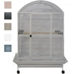 A&E Cage Company Black Macaw Mansion Enormous X-Large Dometop Bird Cage, 48