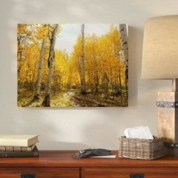 Millwood Pines 'Wooden Things (172)' Photographic Print on Canvas Canvas & Fabric in Brown/Yellow, Size 20.0 H x 30.0 W x 2.0 D in   Wayfair found on Bargain Bro Philippines from Wayfair for $151.99