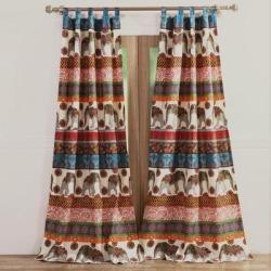 Wide Width Kandula Desert Curtain Panel Pair by Barefoot Bungalow in Desert (Size 84