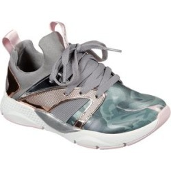 Skechers Girls' Sneakers CAMO - Gray & Green Camo Shine Status Sneaker - Girls found on Bargain Bro India from zulily.com for $23.99