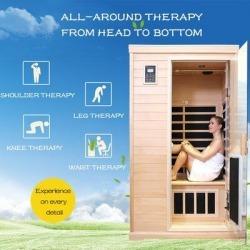 Okngr Far Infrared Sauna Room, Size 76.38 H x 43.7 W x 38.58 D in | Wayfair ORW632S00003 found on Bargain Bro Philippines from Wayfair for $2599.99